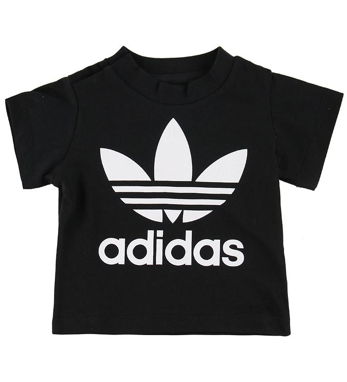 Image of adidas Originals T-shirt - Trefoil - Sort m. Logo (MN093)