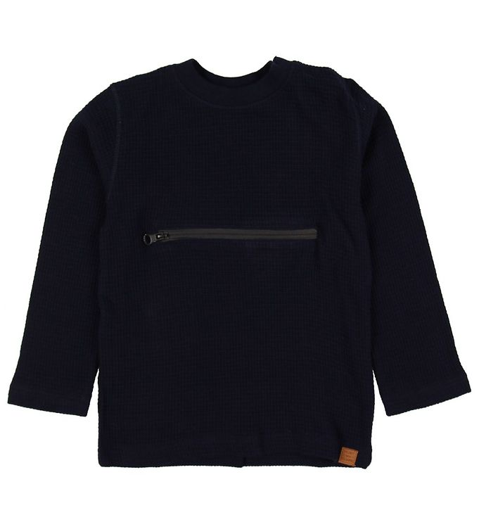 Image of Hust and Claire Bluse - Anton - Navy m. Lynlås (MN401)