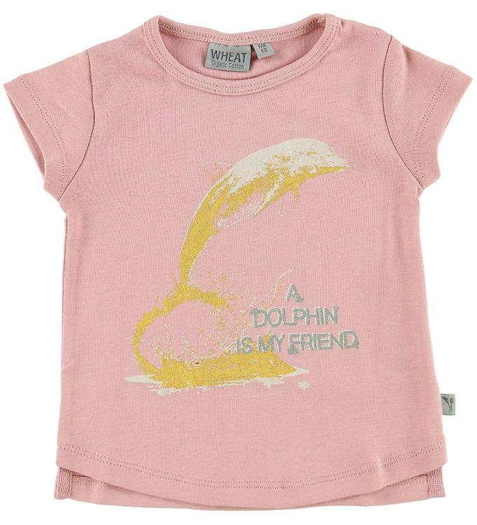 Image of Wheat T-shirt - Mellow Rose m. Delfin (MN432)