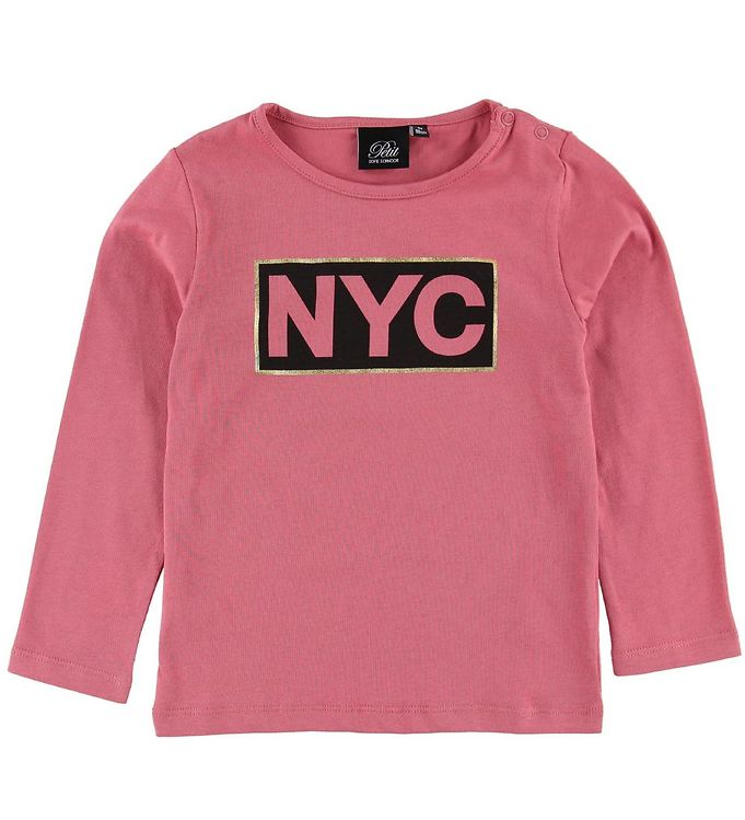 Image of Petit by Sofie Schnoor Bluse - Mørk Pink m. NYC (MN759)