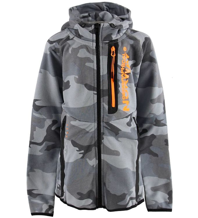 Image of Geographical Norway Cardigan - Gunmetal - Grå Camouflage (MN907)