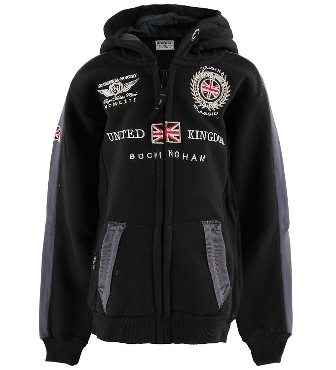 Image of Geographical Norway Cardigan - Gastaldo - Black (MN908)