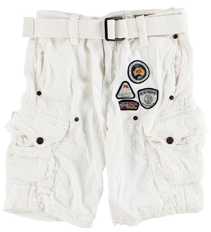 Image of Geographical Norway Shorts - Presbul - White (MN917)