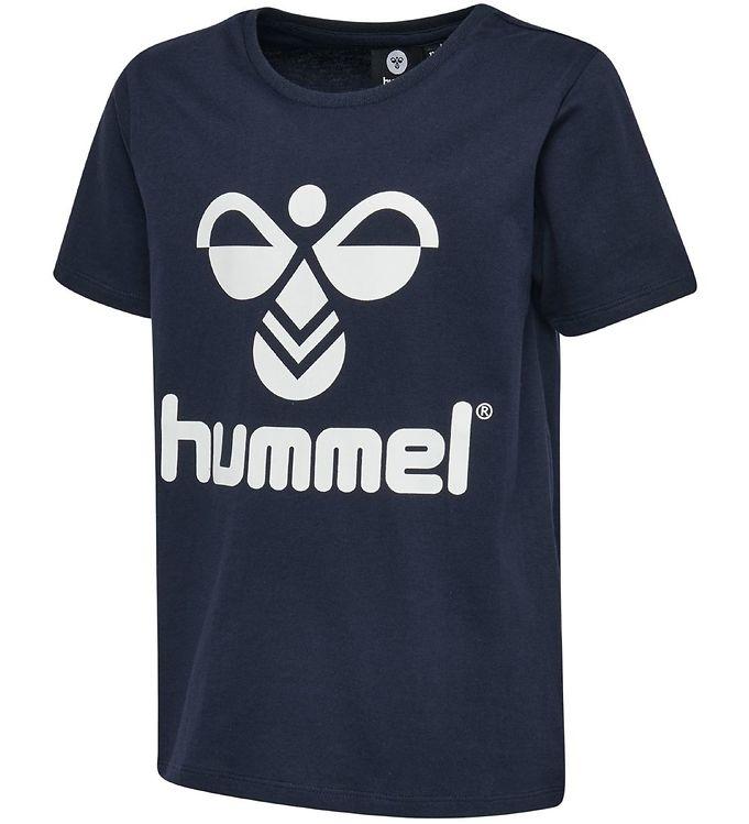 Hummel T-shirt - HMLTres - Navy - 09 - Hummel,Drengetøj,Hummel AW19,Hummel T-shirt,Pigetøj,Unisex - Hummel