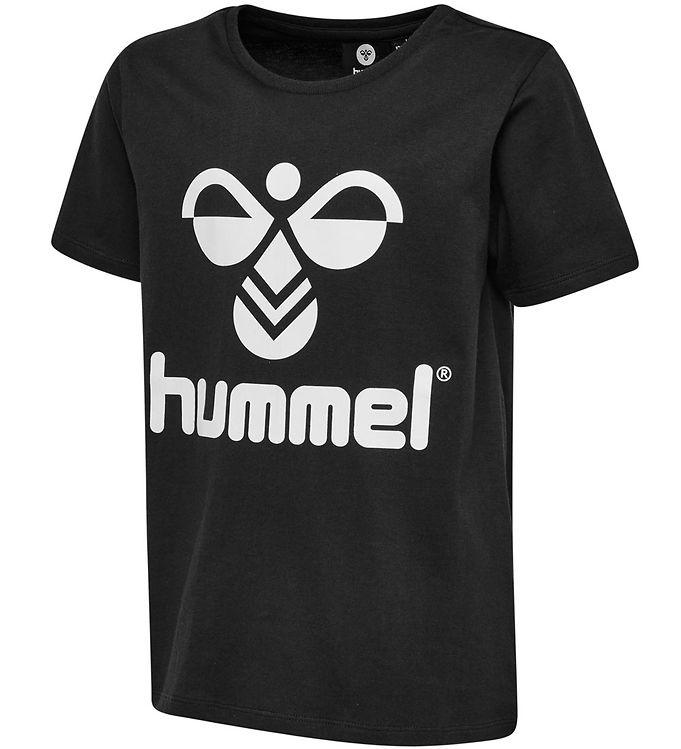 Hummel T-shirt - HMLTres - Sort - 09 - Hummel,Drengetøj,Hummel AW19,Hummel T-shirt,Pigetøj,Unisex - Hummel