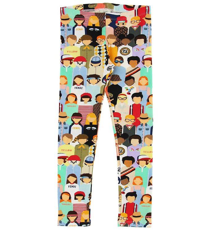 Image of Fendi Kids Leggings - Fendi Family (MO633)