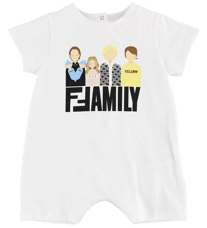 Image of Fendi Kids Sommerdragt - Hvid m. Fendi Family (MO644)