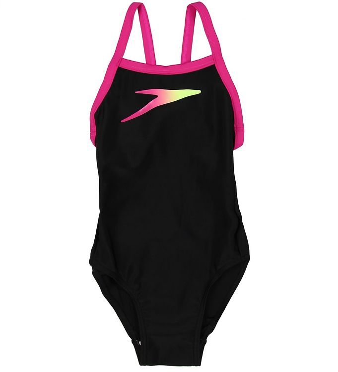 Image of Speedo Badedragt - UV50+ - Placement - Sort m. Pink (MO750)