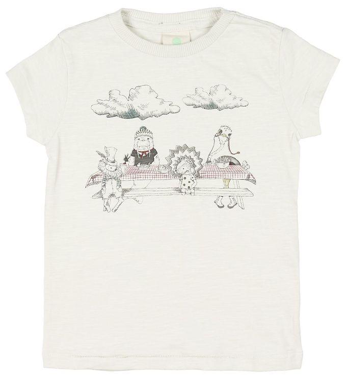 Image of En Fant T-shirt - Creme m. Print (MO957)