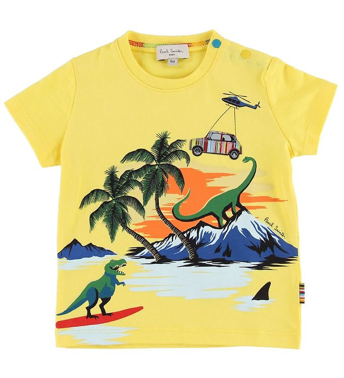 Image of Paul Smith Baby T-shirt - Tim - Gul m. Print (MP065)