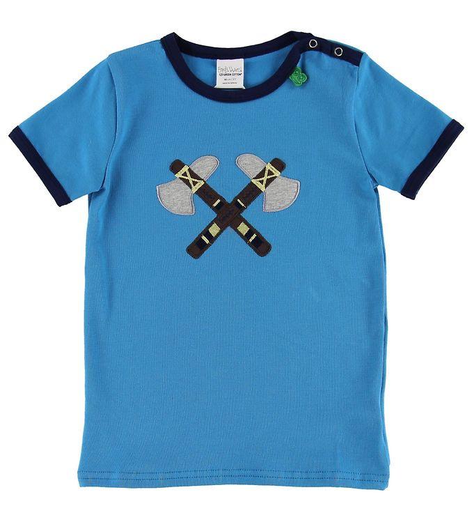Image of Freds World T-shirt - Blå m. Økser (MP652)