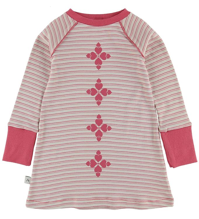 Image of AlbaBaby Kjole - Merry My - Branded Apricot Striped (MQ539)
