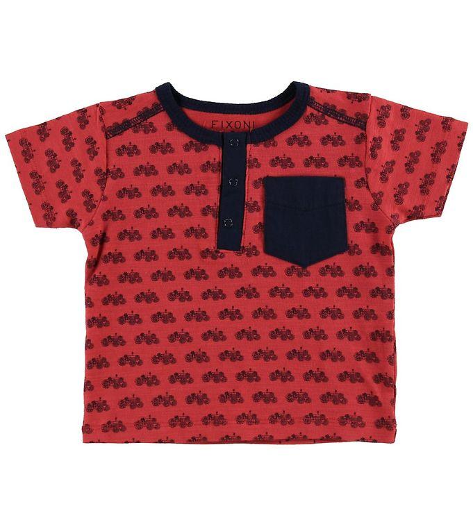 Image of Fixoni T-shirt - Cardinal m. Traktorer (MQ723)