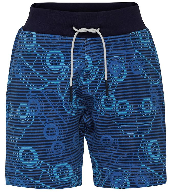 Image of Lego Duplo Sweatpants - Pan - Navy/Blåstribet m. Biler (MQ866)