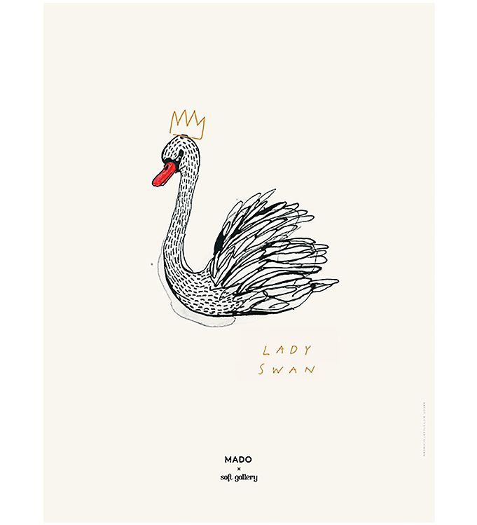 Image of MADO x Soft Gallery Plakat - 30x40 - Lady Swan (MQ922)