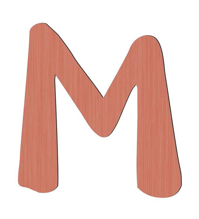 Sebra Træbogstaver - M - Watermelon Pink