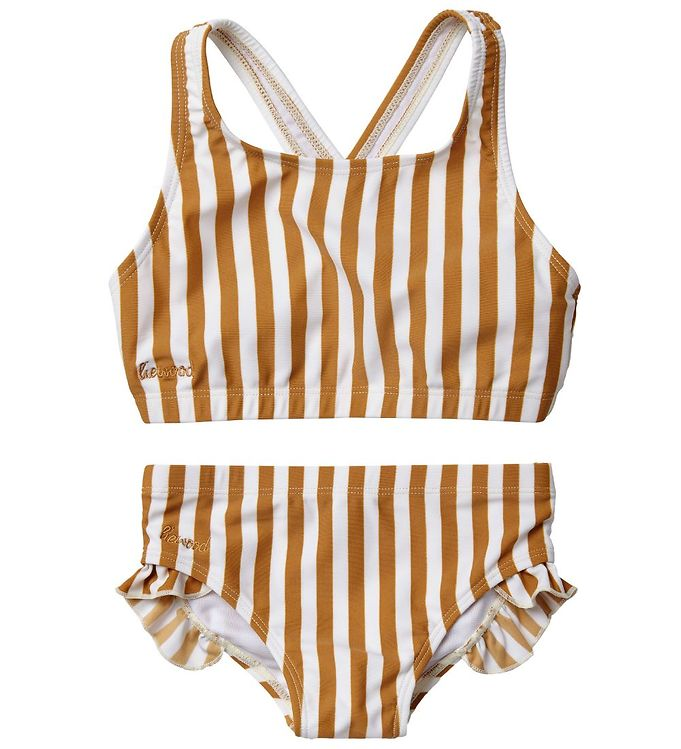 Image of Liewood Bikini - Juliet - UV50 - Mustard/Creme de la Creme (MR311)