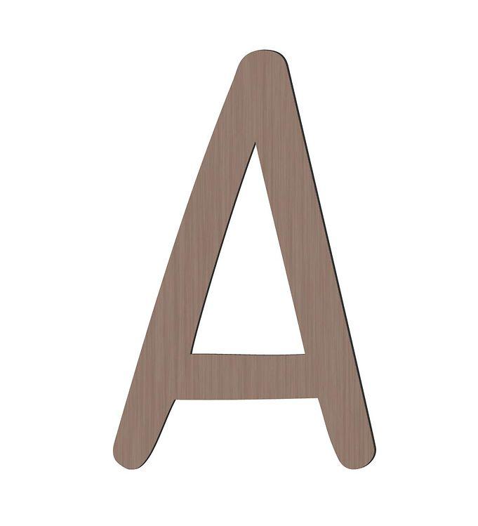 Sebra Træbogstaver - A - Pinecone Brown