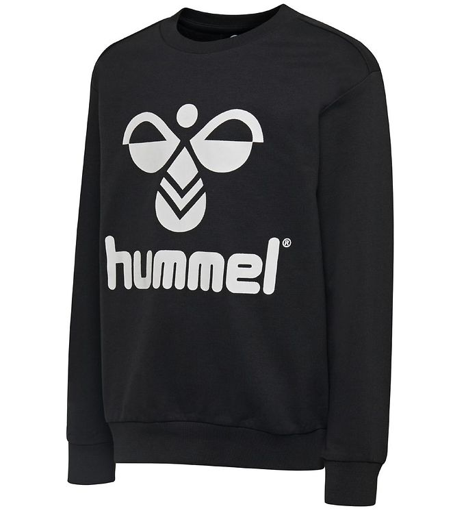 Image of Hummel Sweatshirt - HMLDos - Sort m. Logo (MR373)
