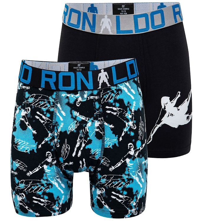 Image of Ronaldo Boxershorts - 2-pak - Sort m. Print (MR940)