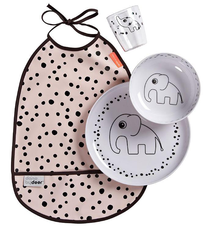 Image of Done By Deer Spisesæt - Happy Dots - Pudder (MR957)