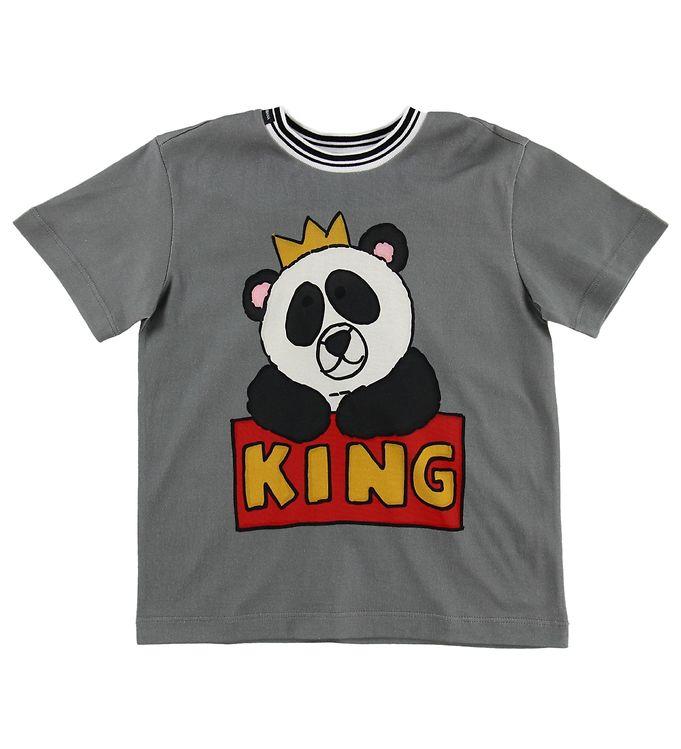 Image of Dolce & Gabbana T-shirt - Grå m. Panda (MS040)