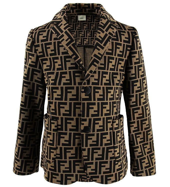 Image of Fendi Kids Blazer - Brun m. Allover Logo (MS113)