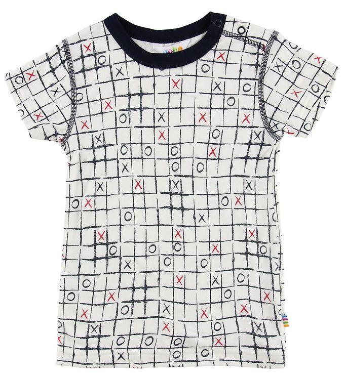 Image of Joha T-shirt - Bambus - Hvid m. Tern (MS124)