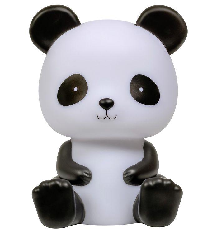 Image of A Little Lovely Company Natlampe - Panda - Sort/Hvid (MS516)