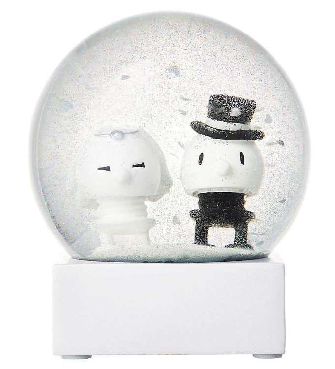 Hoptimist Snekugle - Wedding Couple - Ø: 10 cm - Hvid