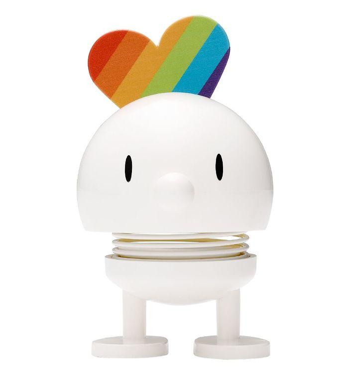 Image of Hoptimist Baby Bumble - Rainbow - Hvid (MS665)