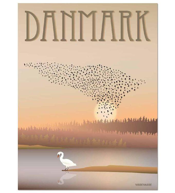 Image of Vissevasse Plakat - 30x40 - Danmark - Sort Sol (MS683)