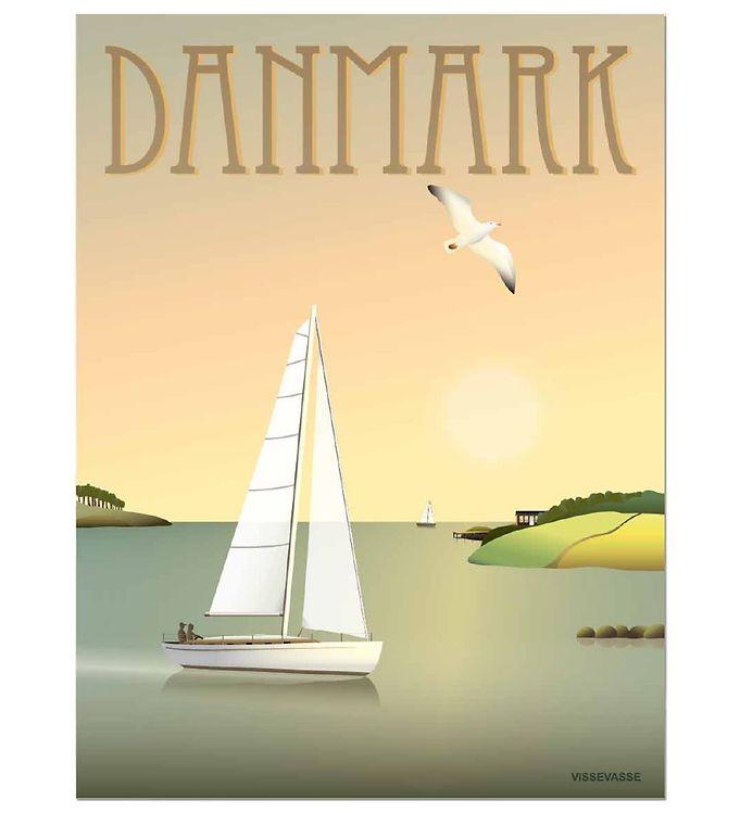 Image of Vissevasse Plakat - 30x40 - Danmark - Sejlbåden (MS686)