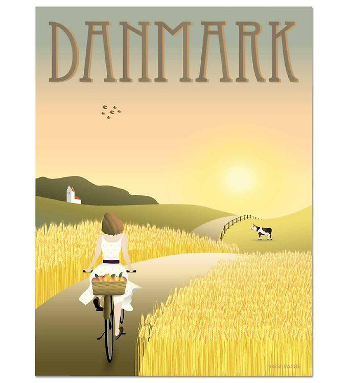 Image of Vissevasse Plakat - 30x40 - Danmark - Markerne (MS687)