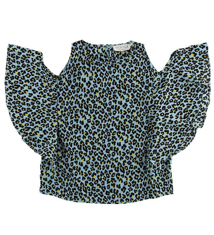 Image of Hound Bluse - Blå Leopard (MS897)