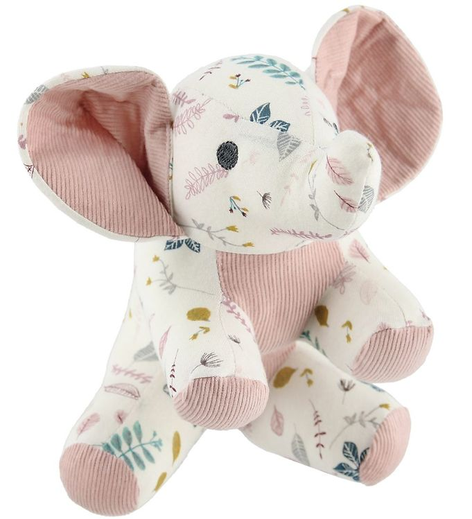 Image of Cam Cam Bamse - Elefant - 22 cm - Pressed Leaves Rose (MS968)