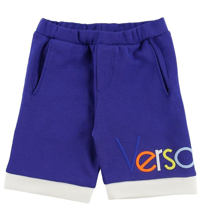 Image of Young Versace Shorts - Sweat - Blå m. Tekst (MT567)