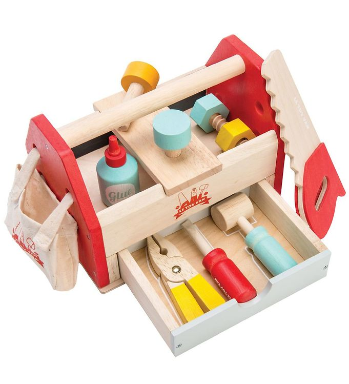 Le Toy Van Værktøjskasse - Natur/Rød - Le Toy Van,Le Toy Van Trælegetøj,Værktøj - Le Toy Van