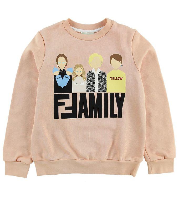 Image of Fendi Kids Sweatshirt - Pudder m. Fendi Family (MU120)