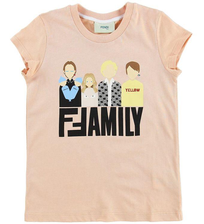 Image of Fendi Kids T-shirt - Pudder m. Fendi Family (MU123)