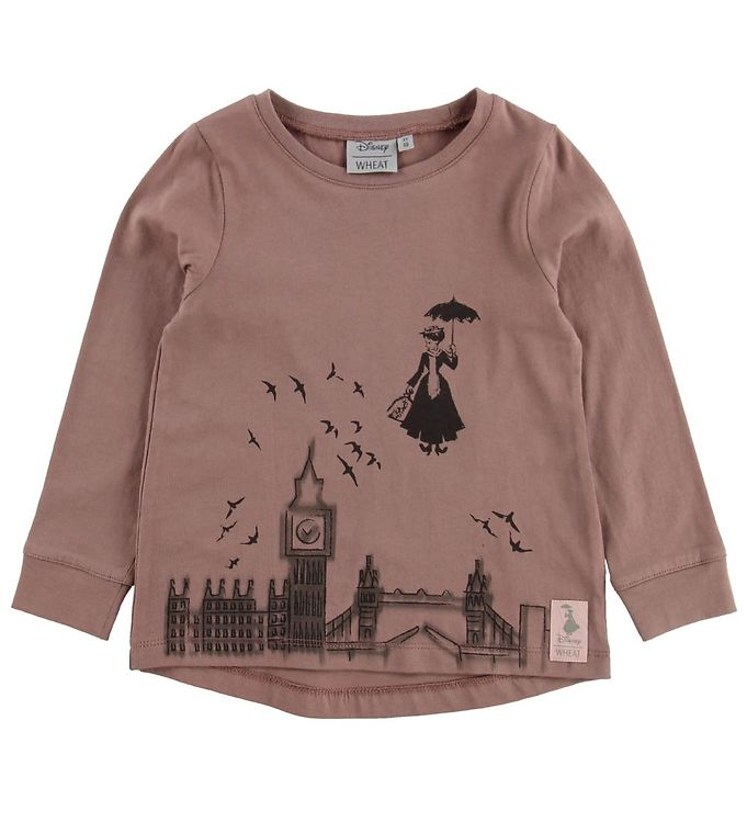 Image of Wheat Disney Bluse - Mary Poppins Flying - Dusty Rouge (MU131)