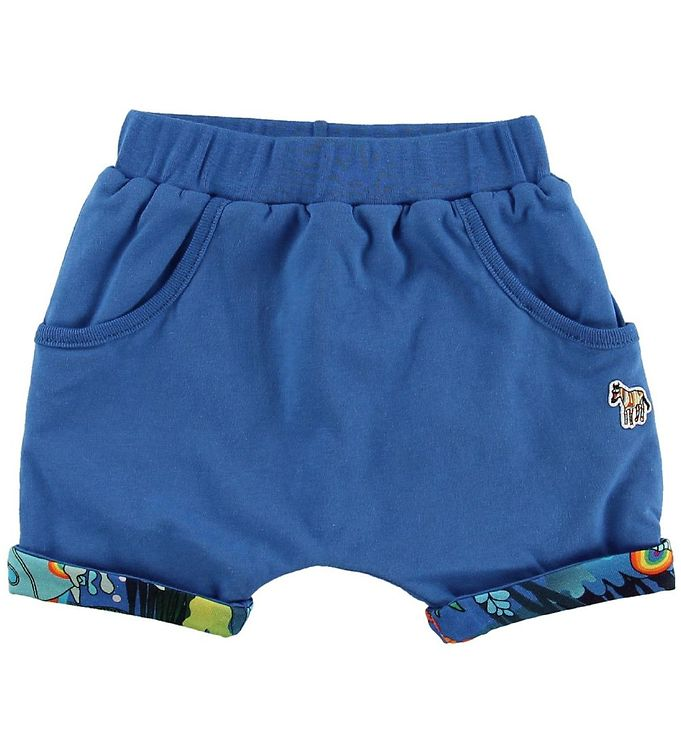 Image of Paul Smith Baby Shorts - Vendbar - Toyo - Blå m. Havets Dyr (MU385)