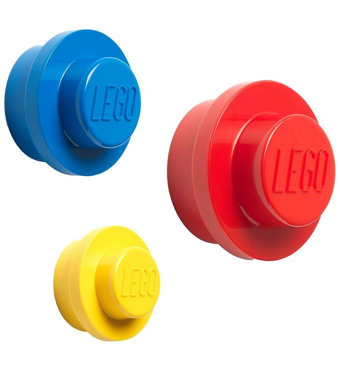 Image of Lego Storage Knagerækkesæt - 3 stk - 10/8/5 cm - Gul/Blå/Rød (MU459)