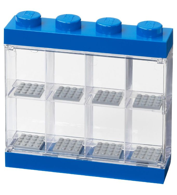 Image of Lego Storage Minifigur Display - 8 Rum - 19 cm - Blå (MU460)