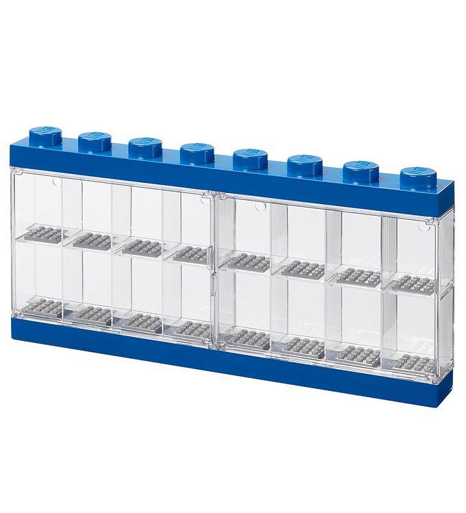 Image of Lego Storage Minifigur Display - 16 rum - 38 cm - Blå (MU461)