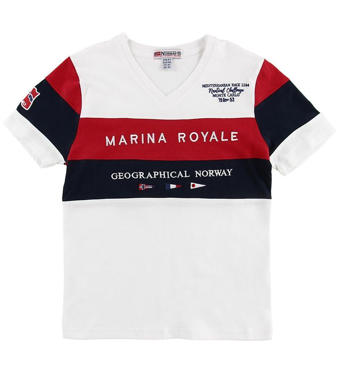 Image of Geographical Norway T-shirt - Jartimi - Hvid m. Print (MU546)