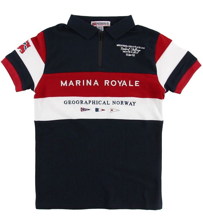 Image of Geographical Norway Polo - Kartimi - Navy m. Print (MU551)