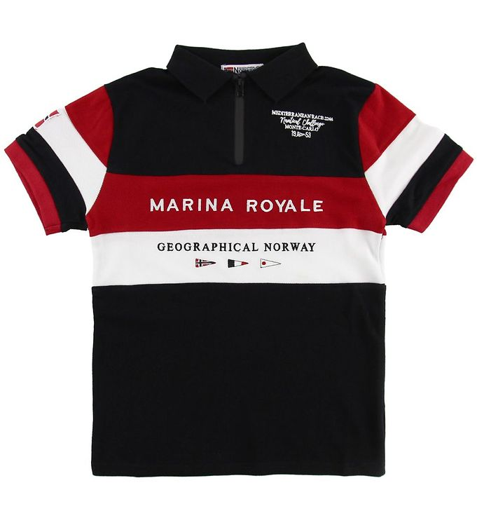 Image of Geographical Norway Polo - Kartimi - Sort m. Print (MU552)