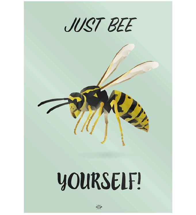 Image of Citatplakat Plakat - A3 - Just Bee Yourself (MU700)