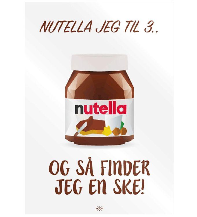 Image of Citatplakat Plakat - 50x70 - Nutella Jeg Til 3 (MU704)